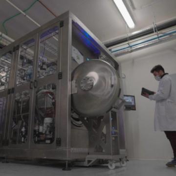 Prototipo diseñado en el marco del proyecto EMTyS, ubicado en la planta piloto de ANFACO-CECOPESCA